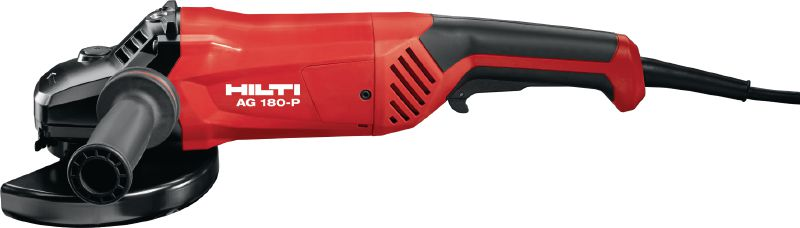 AG 180-P 2000W angle grinder with standard on/off switch, for metal applications with discs up to 180 mm